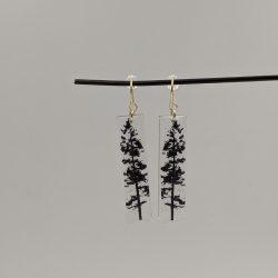 zilveren hangers rechthoek, boom