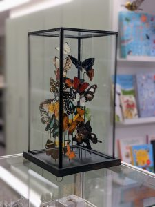mix vlinders in hoge stolp